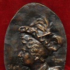 Arte: JOSEP BERGA BOIX (OLOT, GIRONA, 1837 - 1914) PLAFÓN EN BRONCE PATINADO FIRMADO Y FECHADO DEL 1895. Lote 52139297