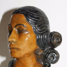 Arte: LUIS HEREDIA AMAYA (1920-1985) - BUSTO EN TERRACOTA DE CARMEN AMAYA - AÑOS 40. Lote 52301423