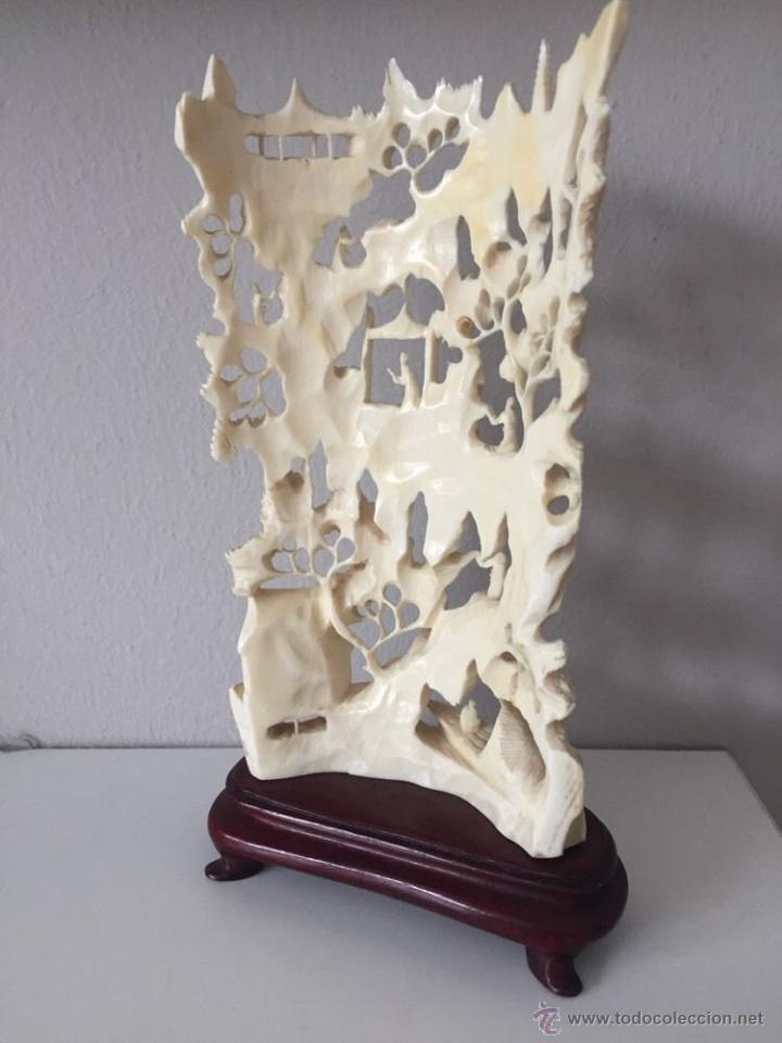 Arte: magnifica antigua escultura talla asiática 8 x10 cm filigrana arte siglo XIX P.V.P. 2530 EUR - Foto 2 - 52732736