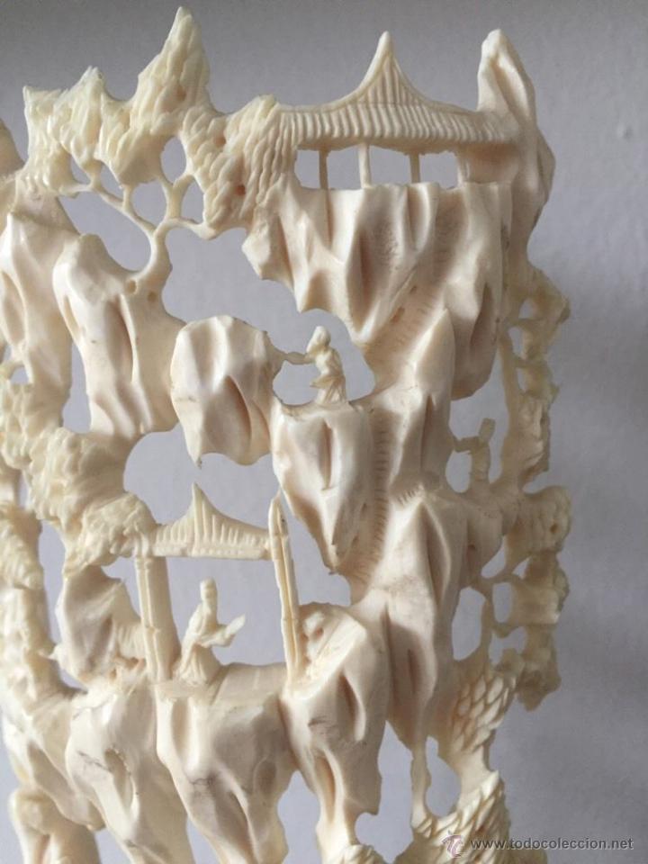 Arte: magnifica antigua escultura talla asiática 8 x10 cm filigrana arte siglo XIX P.V.P. 2530 EUR - Foto 8 - 52732736