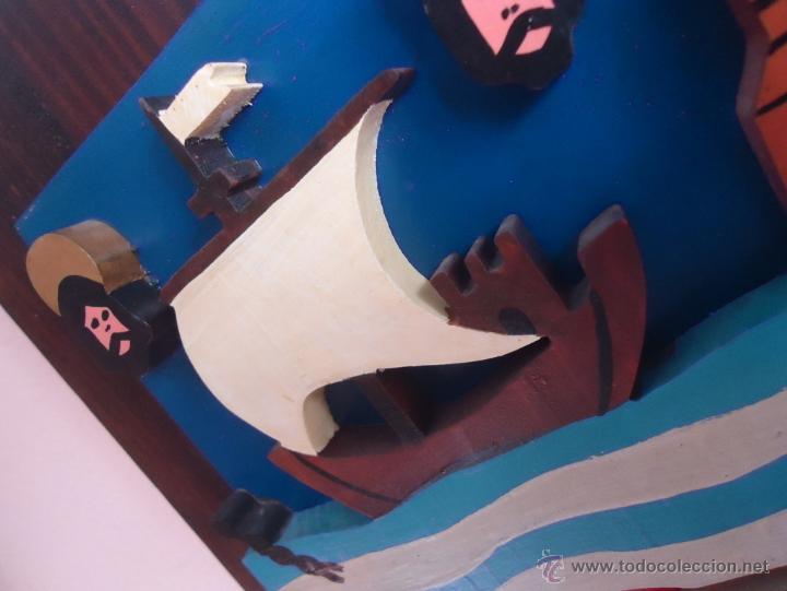Arte: Escudo de Cantabria. Madera 39 x 31 x 6 . trifasico - Foto 5 - 52747279