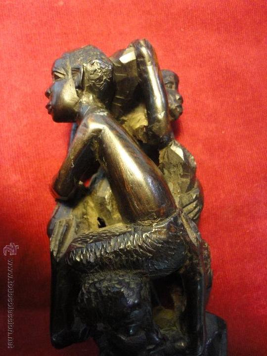 TALLA DE EBANO MACUMBE (Arte - Escultura - Madera)