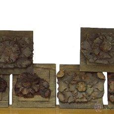 Arte: ANTIGUAS TALLAS, ROSETONES, MADERA DE NOGAL EN BASE DE ROBLE,S. XVI. Lote 53053691