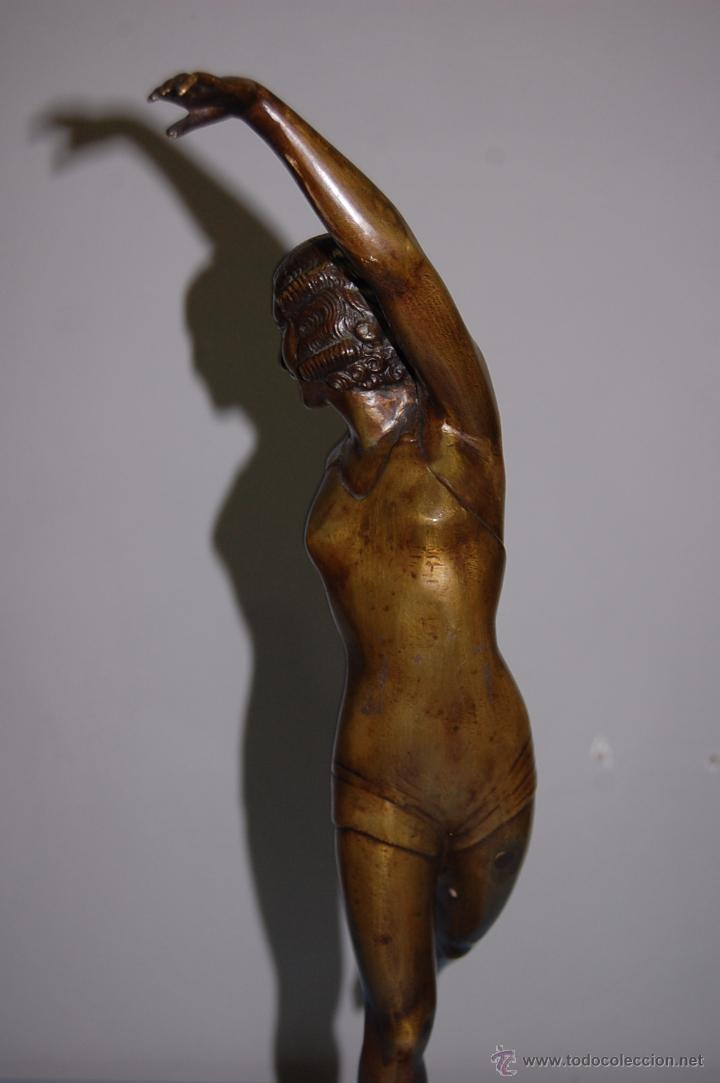 Arte: ESCULTURA EN BRONCE BAÑISTA ART DECÓ CIRCA 1920 - Foto 9 - 53110462