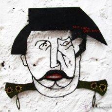 Arte: DECORATIVA ESCULTURA BUSTO PLANO METAL DE TEJERO GOLPE ESTADO 23F FIRMADO ESCULTOR MIGUEL GONZALEZ. Lote 53288334