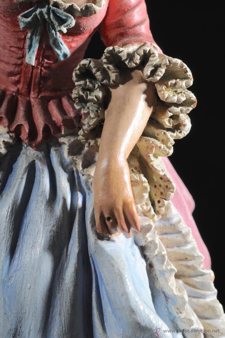 Arte: PRECIOSA FIGURA EN TERRACOTA FIRMADA M. CASTELLS AÑOS 1940//50 - Foto 15 - 53449233