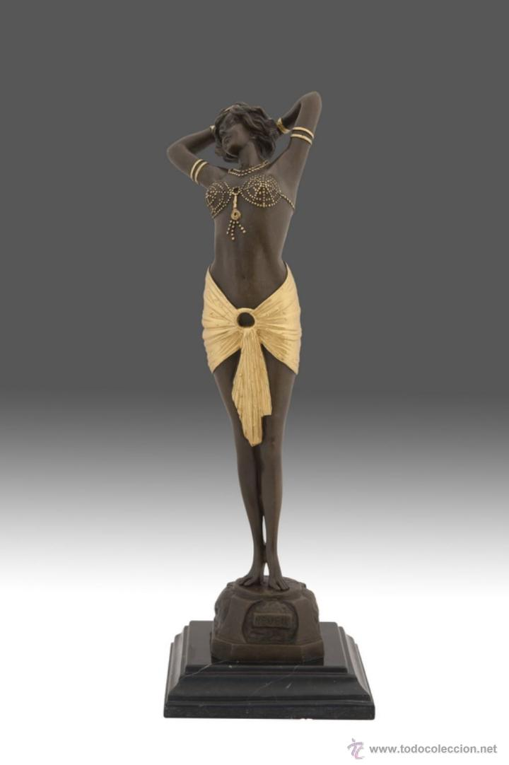 FINA ESCULTURA EN BRONCE MODELO ART DECO (Arte - Escultura - Bronce)