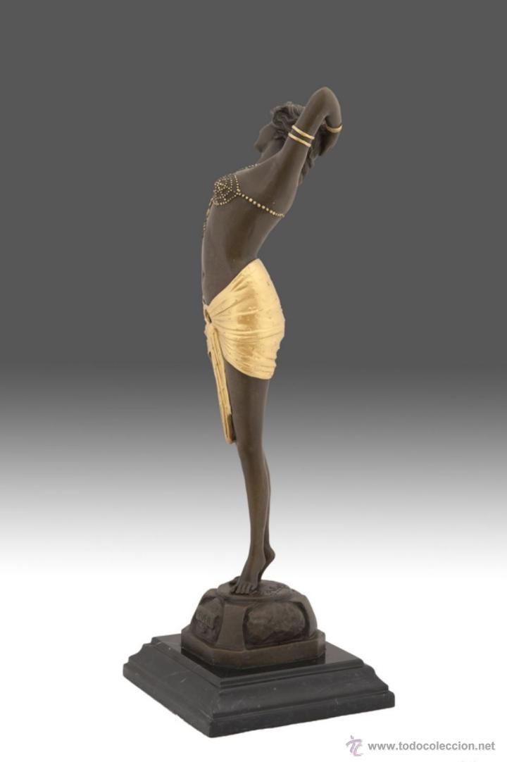 Arte: Fina escultura en bronce modelo art deco - Foto 2 - 53619417
