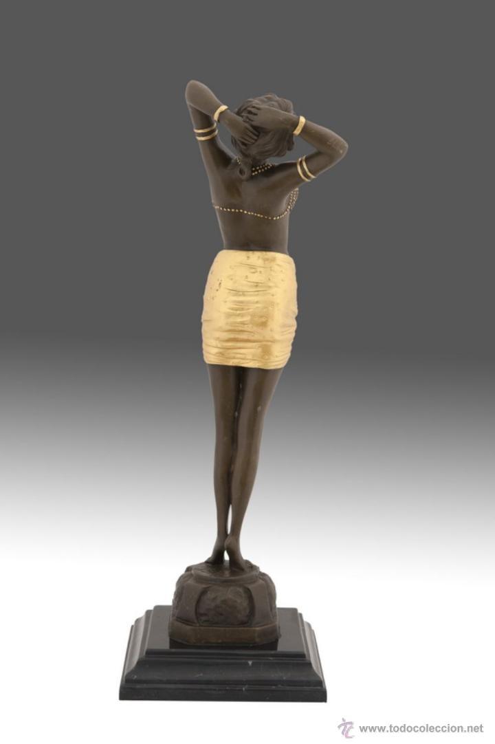 Arte: Fina escultura en bronce modelo art deco - Foto 3 - 53619417