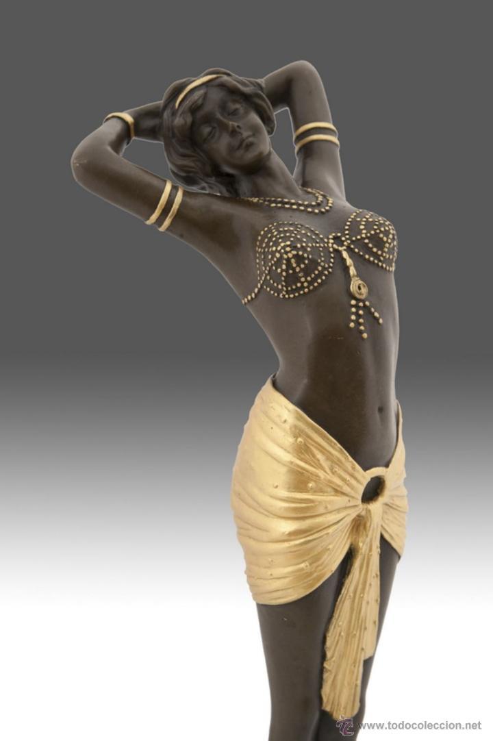 Arte: Fina escultura en bronce modelo art deco - Foto 4 - 53619417