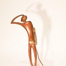 Arte: ESCULTURA HAGENAUER SIN FIRMA BRONCE GUERRERO AFRICANO. Lote 53662203