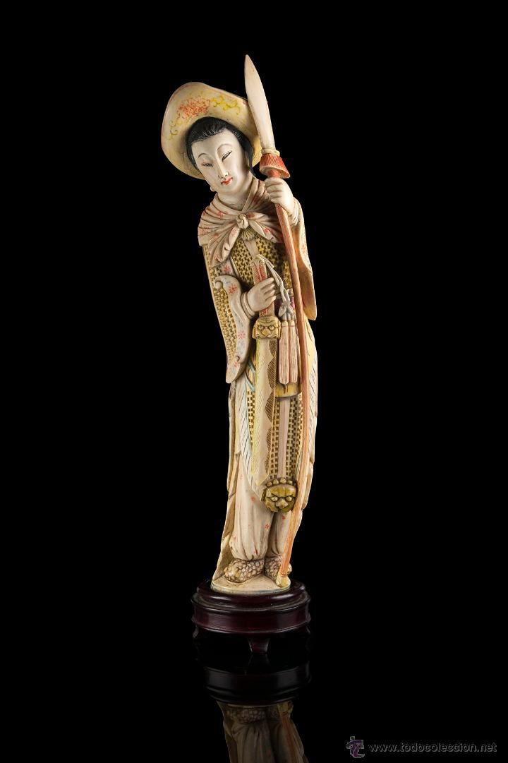 ESCULTURA MARFIL CHINA (Arte - Escultura - Marfil)