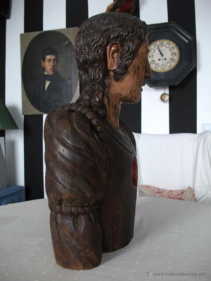 Arte: Busto relicario S. Juan. Talla Madera s. XVII-XVIII. Iglesia, retablo, santo. - Foto 5 - 54264483