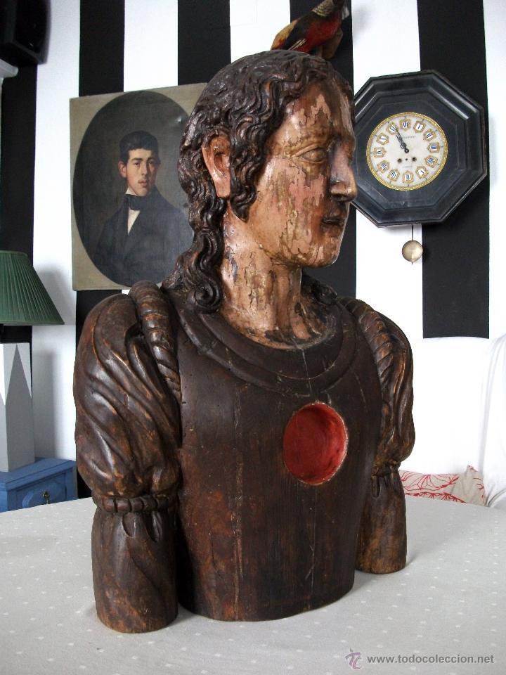 Arte: Busto relicario S. Juan. Talla Madera s. XVII-XVIII. Iglesia, retablo, santo. - Foto 6 - 54264483