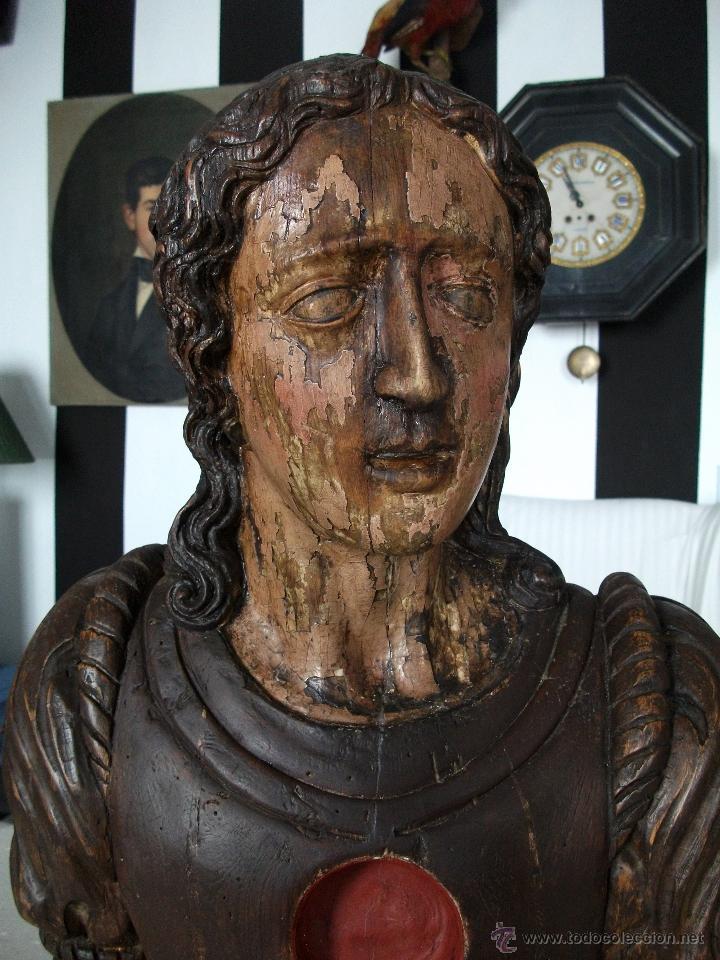 Arte: Busto relicario S. Juan. Talla Madera s. XVII-XVIII. Iglesia, retablo, santo. - Foto 7 - 54264483