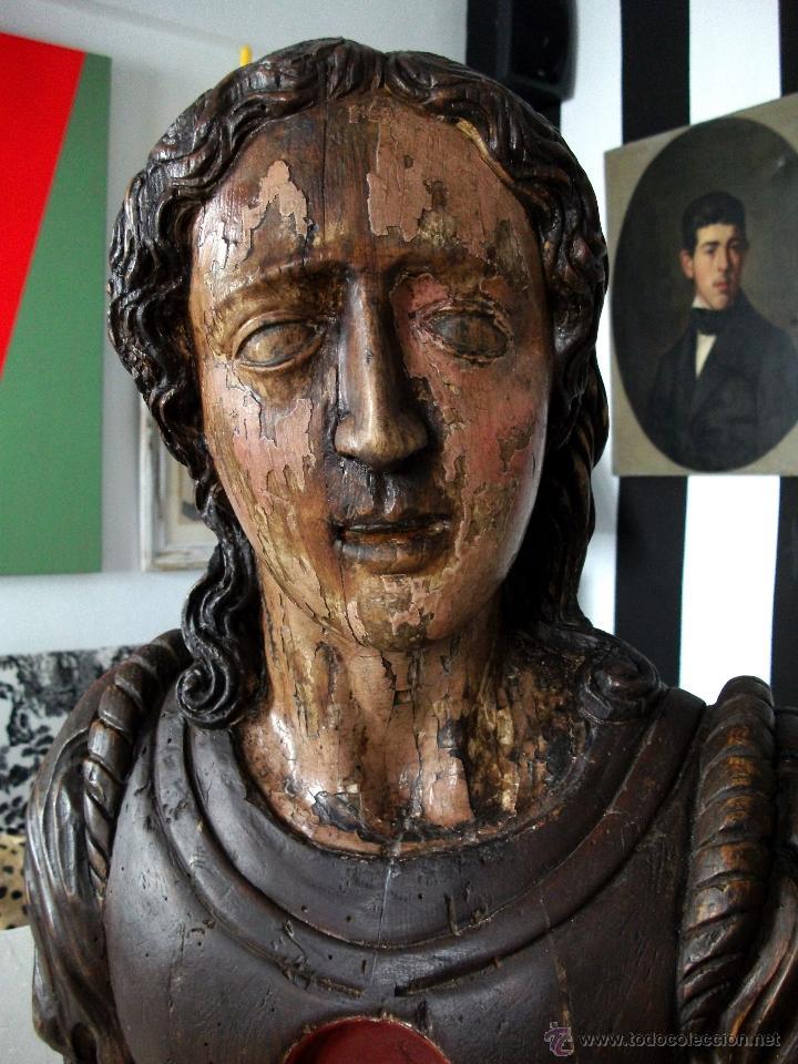 Arte: Busto relicario S. Juan. Talla Madera s. XVII-XVIII. Iglesia, retablo, santo. - Foto 9 - 54264483
