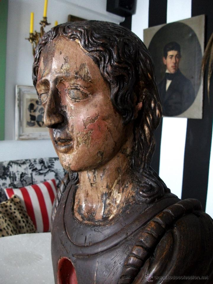Arte: Busto relicario S. Juan. Talla Madera s. XVII-XVIII. Iglesia, retablo, santo. - Foto 10 - 54264483