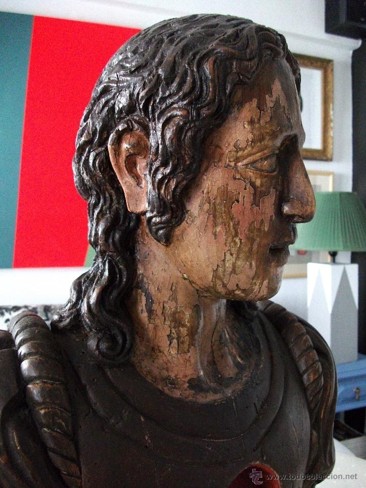 Arte: Busto relicario S. Juan. Talla Madera s. XVII-XVIII. Iglesia, retablo, santo. - Foto 11 - 54264483