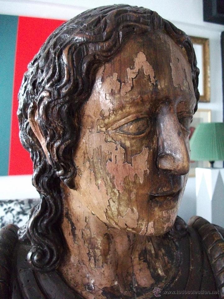 Arte: Busto relicario S. Juan. Talla Madera s. XVII-XVIII. Iglesia, retablo, santo. - Foto 12 - 54264483