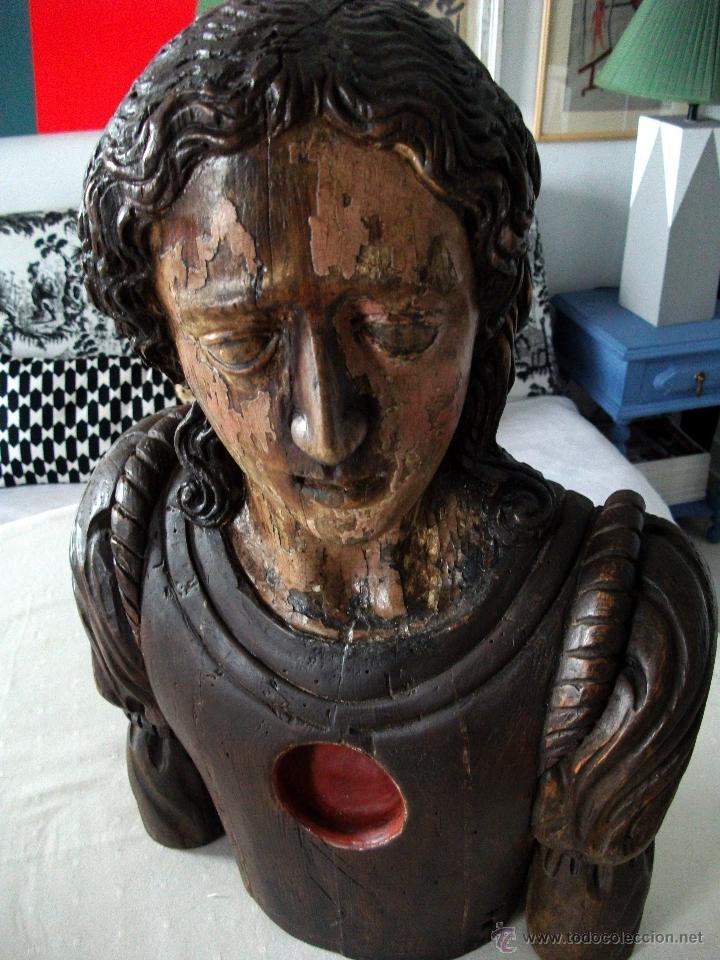 Arte: Busto relicario S. Juan. Talla Madera s. XVII-XVIII. Iglesia, retablo, santo. - Foto 13 - 54264483