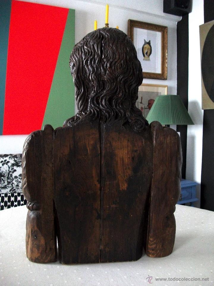 Arte: Busto relicario S. Juan. Talla Madera s. XVII-XVIII. Iglesia, retablo, santo. - Foto 14 - 54264483