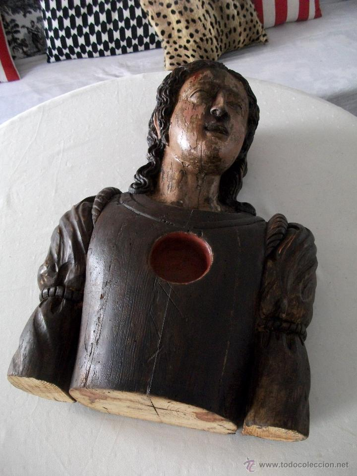Arte: Busto relicario S. Juan. Talla Madera s. XVII-XVIII. Iglesia, retablo, santo. - Foto 16 - 54264483