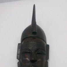 Arte: MASCARA ANTIGUA AFRICANA DE LA TRIBU DINKA DE SUDÁN, EN MADERA DE EBANO TALLADA A MANO .. Lote 54278947