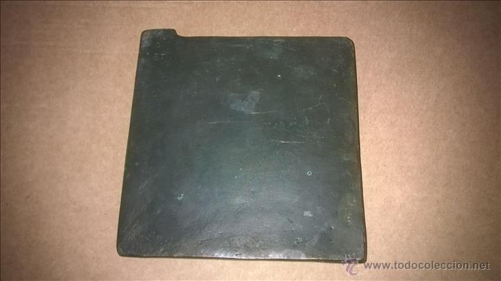 Arte: Placa de bronce. Fechada.Firmada: Pedrero. Zamora. Escultura. - Foto 3 - 54447588