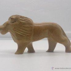 Art - Escultura etíope antigua de león en piedra tallada a mano . - 54574413