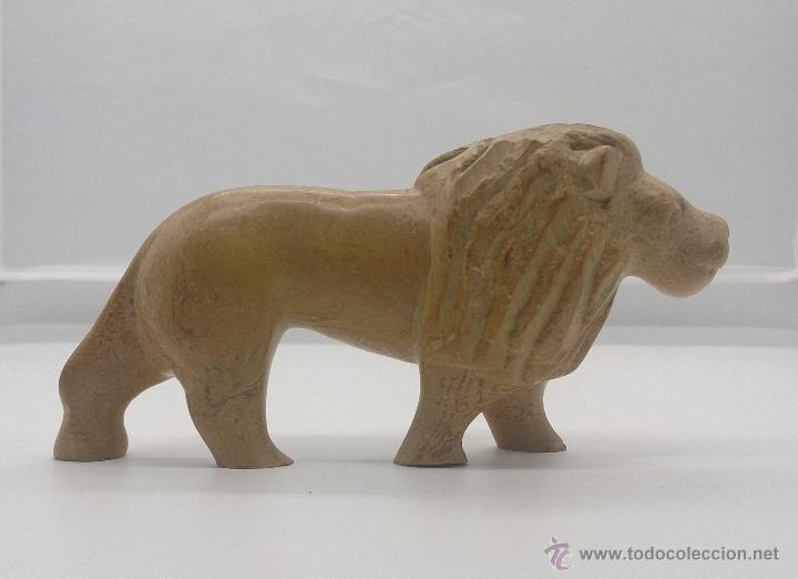 Arte: Escultura etíope antigua de león en piedra tallada a mano . - Foto 4 - 54574413
