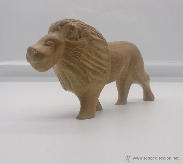 Arte: Escultura etíope antigua de león en piedra tallada a mano . - Foto 6 - 54574413
