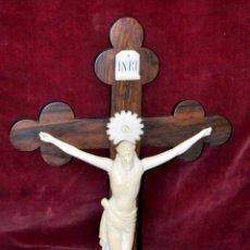 Arte: PRECIOSO CRISTO EN MARFIL TALLADO DE MEDIADOS DEL SIGLO XIX. Lote 54610571