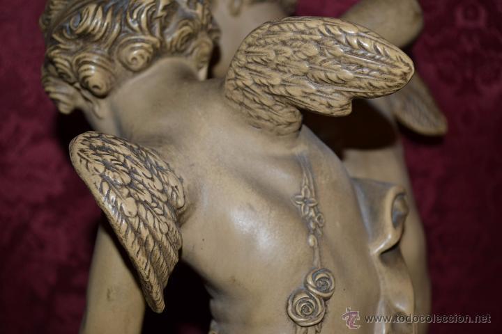 Arte: MAGNIFICA PAREJA DE ANGELES CUPDOS EN TERRACOTA,S. XIX - Foto 13 - 54659694