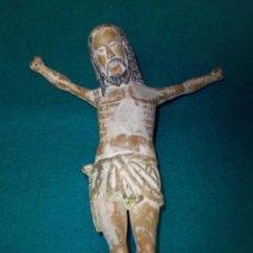 Arte: CRISTO EN MADERA TALLADA Y POLICROMADA, SIGLO XV - XVI.. Lote 54736571