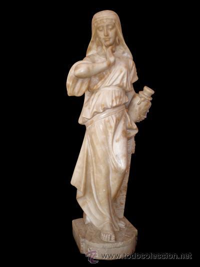 ESCULTURA-ORIENTALISTA-DE-ALABASTRO (Arte - Escultura - Alabastro)