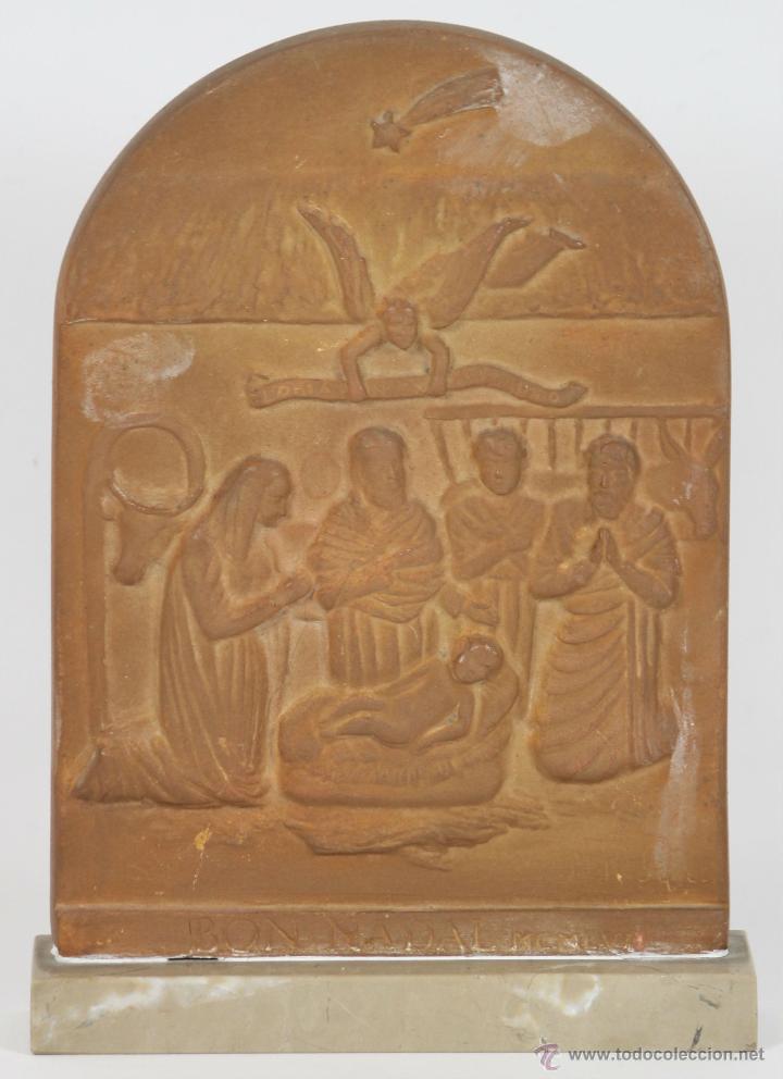 NACIMIENTO DE JESUS. ESCULTURA EN TARRACOTA. JOSEP BUSQUETS ODENA. 1956. (Arte - Escultura - Terracota )