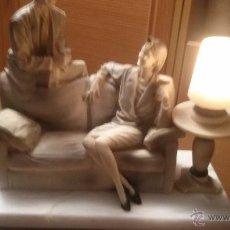 Arte: IMPRESIONANTE LAMPARA ESCULTURA EN MARMOL AÑOS 30 ART DECO PRECIO VENTA DIRECTA 1350 € PIEZA MUSEO. Lote 54803367