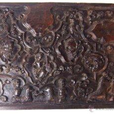 Arte: EXCEPCIONAL BAJO RELIEVE. MADERA DE NOGAL. ESCUELA ITALO-ESPAÑOLA. XVII-XVIII.. Lote 49542656