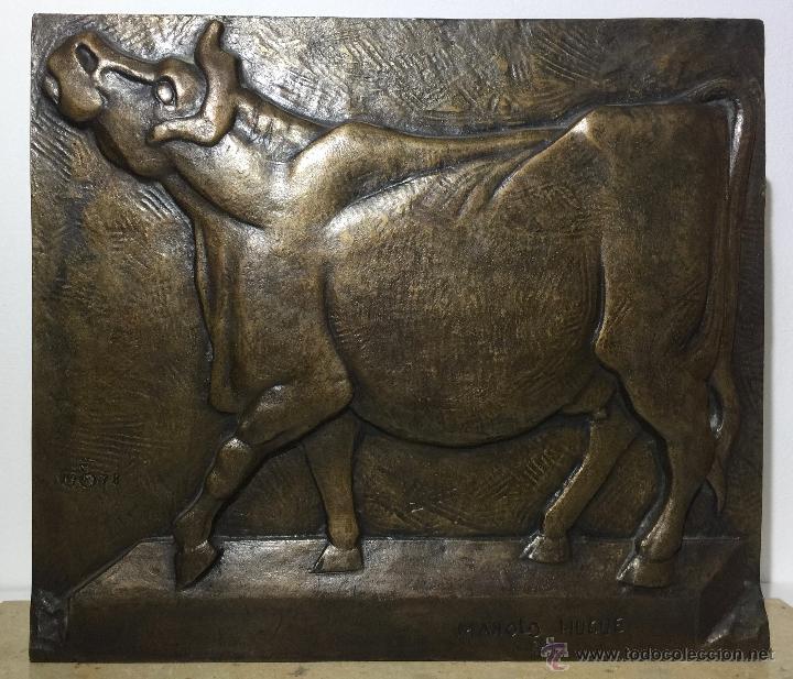 CAMIL FABREGAS - MANOLO HUGUÉ , ESCULTURA EN BRONCE FIMADA FECHADA Y NUMERADA (Arte - Escultura - Bronce)