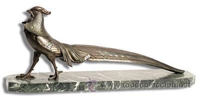 FAISAN-ESCULTURA-ART DECO BRONCE (Arte - Escultura - Bronce)