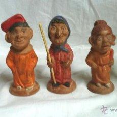 Arte: 5 CABEZUDOS VILANOVA, OLOT, MATARÓ, VIC, DE TERRACOTA, TALLER HNOS BUXO OLOT. ALT 10 CM. Lote 54979925