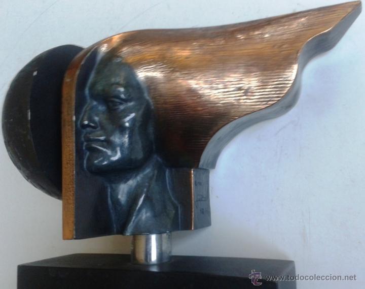 JOSEP BOFILL CABEZA ESCULTURA ORIGINAL BRONCE RESINA HIERRO MADERA FIRMADA FECHADA NUMERADA 422/940 (Arte - Escultura - Bronce)