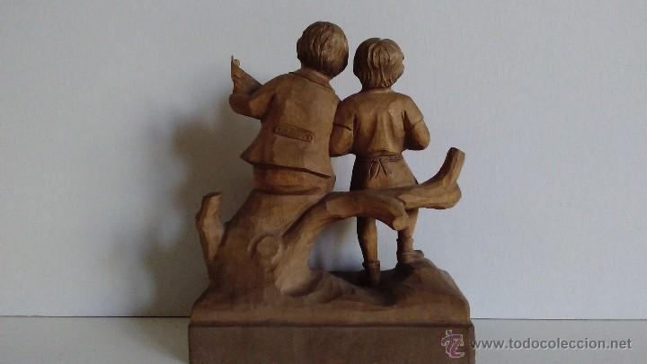 Arte: Escultura de madera representando niños músicos - Foto 2 - 55067862