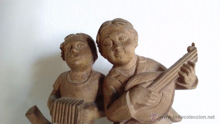 Arte: Escultura de madera representando niños músicos - Foto 4 - 55067862