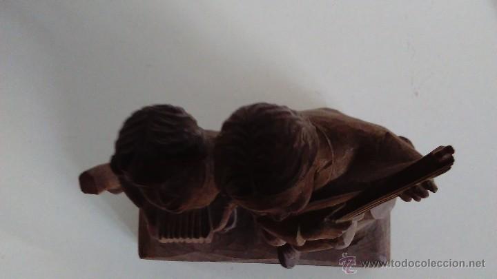 Arte: Escultura de madera representando niños músicos - Foto 5 - 55067862