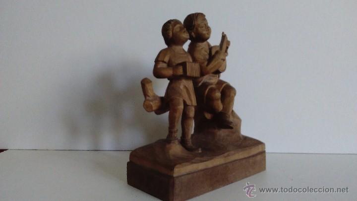 Arte: Escultura de madera representando niños músicos - Foto 6 - 55067862
