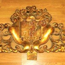 Arte: GRAN ESCUDO. SOCIEDAD DE SEGUROS DE INCENDIOS DE CASAS DE BARCELONA. ESPAÑA. XIX. Lote 55075688