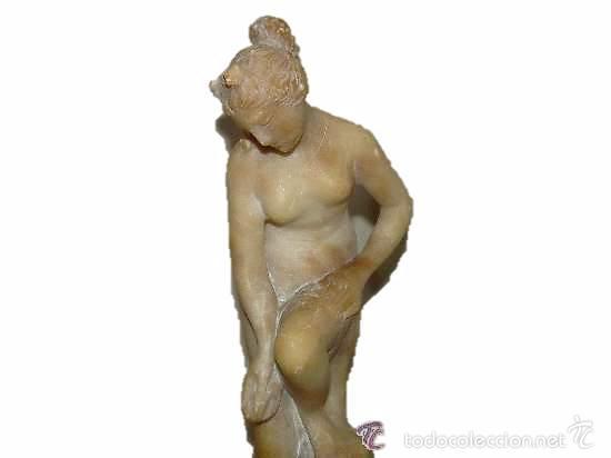 ANTIGUA Y BONITA FIGURA DE MARMOL. (Arte - Escultura - Alabastro)
