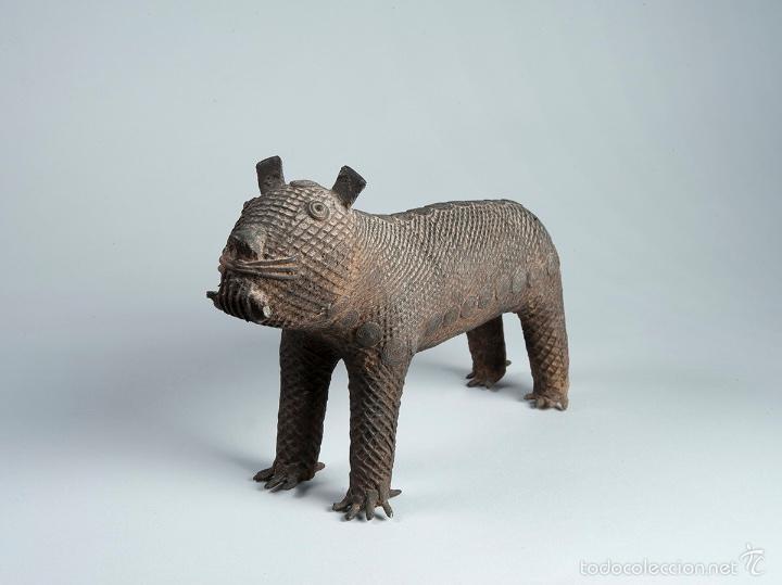 CURIOSA FIGURA EN BRONCE DEL SIGLO XVIII (Arte - Escultura - Bronce)