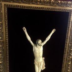 Arte: RARO CRISTO MARFIL ÚNICO EUROPEU GRAN TAMANO 75 CM--RARE IVORY CHRIST HUGE SIZE WITH CERTIFICATE. Lote 56232796